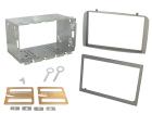 2-DIN monteringskit for diverse Alfa Romeo modeller, sølv. (260 CT23AR02A)