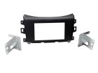 2-DIN monteringssæt til Nissan Navara 2015- i matsort udgave(260 CT23NS23)