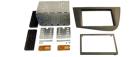 2-DIN monteringskit til Seat Leon 1P 2005-2012, sølv.(260 CT23ST09L)