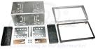 2-DIN monteringskit til diverse Opel modeller, Chrome metall(260 CT23VX12A)