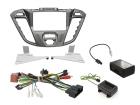 2-DIN kit Phoenix silver ramme Ford Transit Custom 2012>(260 CTKFD41)