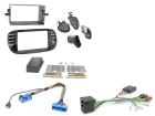 2-DIN kit Sort ramme, Fiat 500 2008>2015(260 CTKFT02)