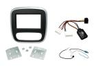 Komplet 2-DIN kit til ny Opel Vivaro 15-, sort/sølv. (260 CTKVX38)