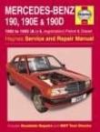 Værkstedshåndbog Mercedes 190(90400 3450 )