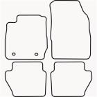 Skræddersyet Måttesæt til Ford Fiesta fra 2008-2011(822 FOR1007)