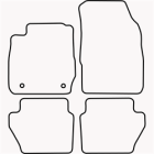 Skræddersyet Måttesæt til Ford Fiesta fra 2011 og frem(822 FOR1008)