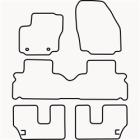 Skræddersyet Måttesæt til Ford S-max 7 personers fra 2006 og(822 FOR1023)