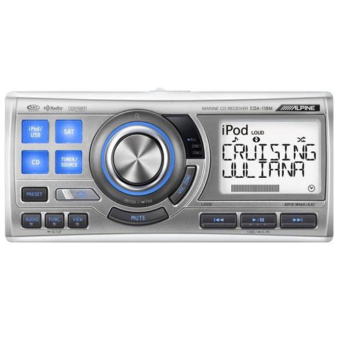 Alpine CDA118M CD/TUNER MARINE