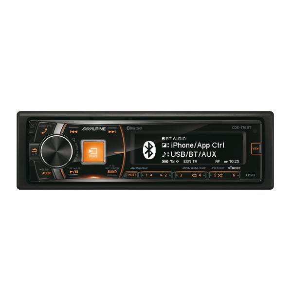 Alpine CDE178BT CD/TUNER BLUETOOTH 3 LINE OUT 4V