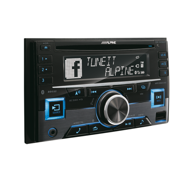 Alpine CDEW296BT 2-DIN CD/TUNER MED BT.