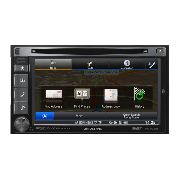 Alpine INEW925R 2DIN MULTIMEDIA STATION MED NAVI
