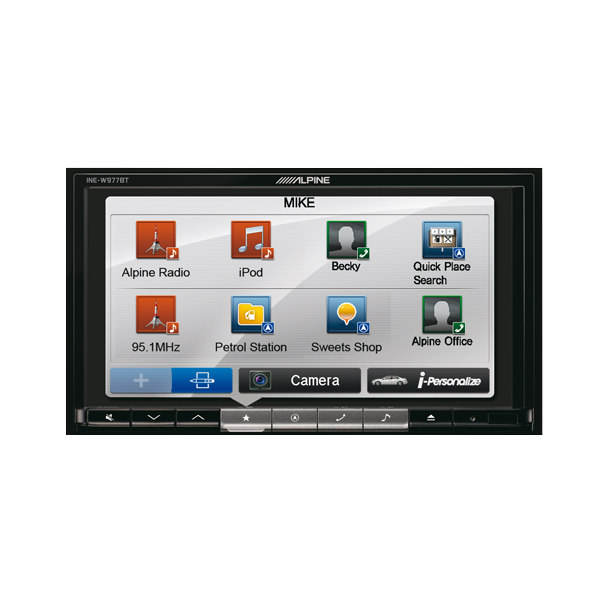 Alpine INEW977BT 2DIN MULTIMEDIA STATION MED NAVI