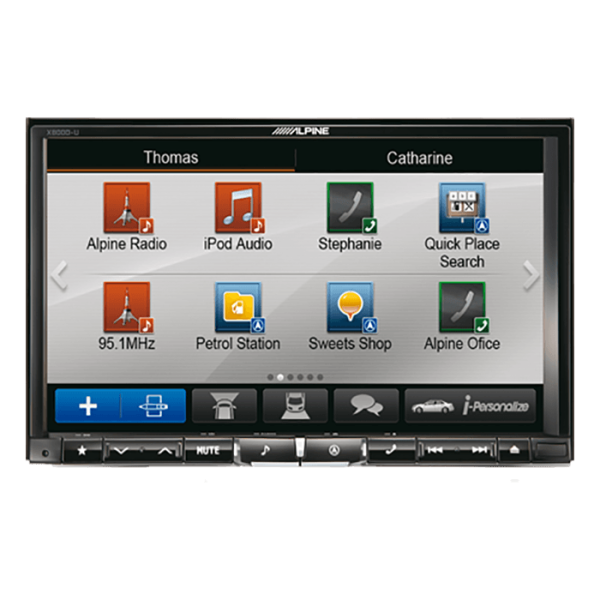 "Alpine X800DU 2DIN 8"" MULTIMEDIA STATION"