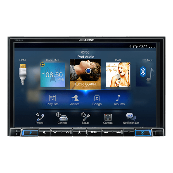 "Alpine X801DU 2DIN 8"" MULTIMEDIA STATION U.DREV"