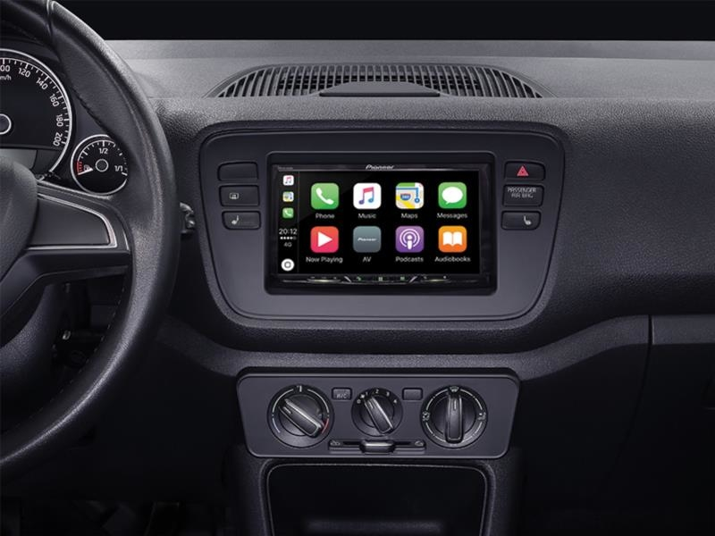 Radioramme VW UP Piano Sort , 2-DIN.
