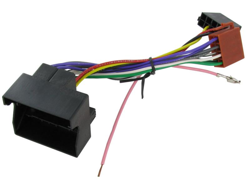 ISO ADAPTER SKODA/Seat/Audi (Quadlock)