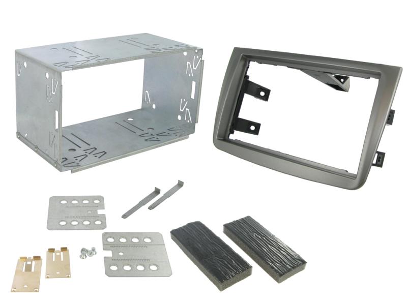 2-DIN monteringskit for Alfa Romeo Mito 2012-, mat titanium.