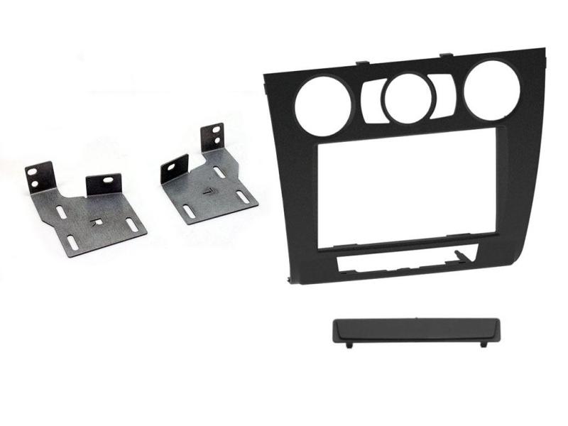2-DIN monteringskit for BMW 1-serie E81, E82, E87, E88, sort