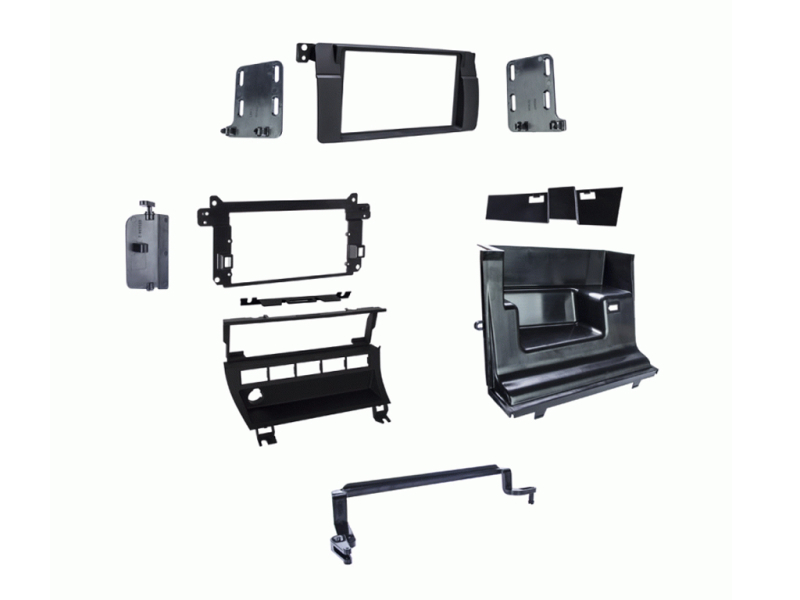 2-DIN kit til BMW 3-serie E46 kontaktpanel m. 5 huller