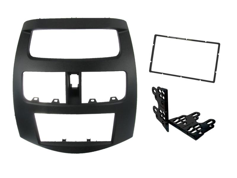 2-DIN monteringskit til Chevrolet Spark 2010-2012, sort