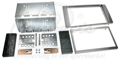 2-DIN sølv kit til divere Ford med firkantet Ford 6000CD OE