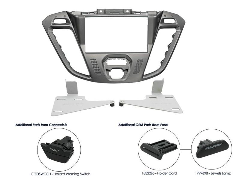 2-DIN monteringskit til Ford Transit Custom 2012-, Phoenix s