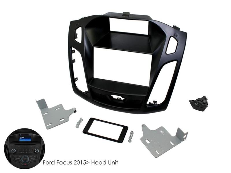 2-DIN kit til Ford Focus 2015- inklusive dørlås & haveriblin