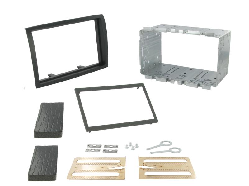 2-DIN monteringskit til diverse kassevogn 2006-2011, sort.