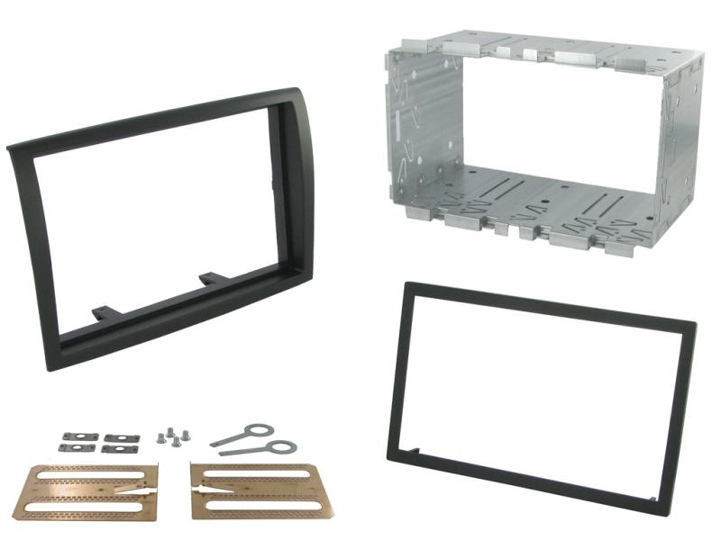 2-DIN monteringskit til diverse kassevogne 2011-2014, sort.
