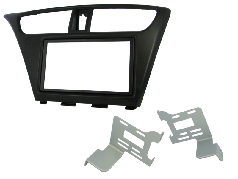 2-DIN monteringskit til Honda Civic Hatchback 2012-, sort