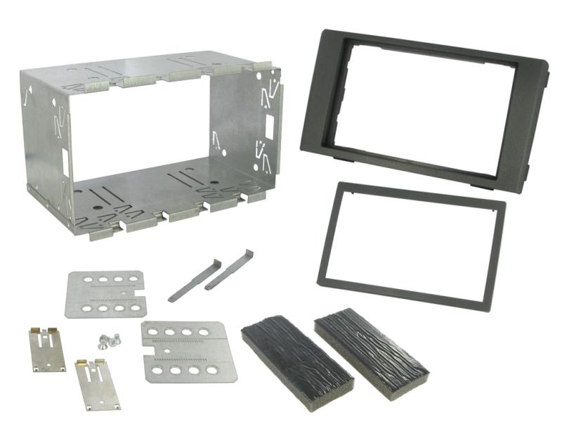 2-DIN monteringskit til Iveco Daily 9/2011-6/2014, Mørkegrå