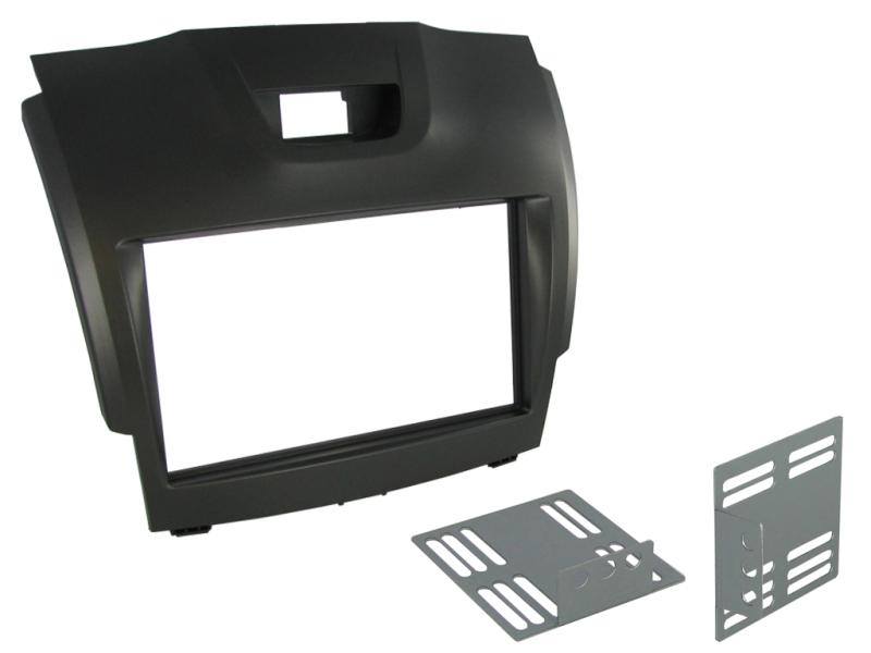2-DIN monteringskit til Isuzu D-Max 2012-, MU-X 2014-, sølvg