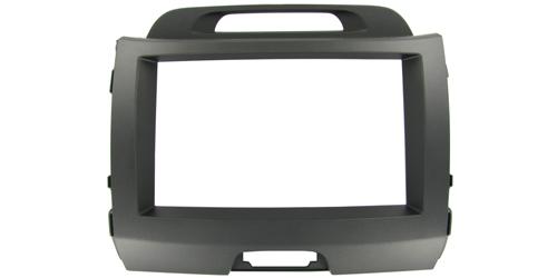 2-DIN monteringskit til Kia Sportage 2010-. Mørkegrå