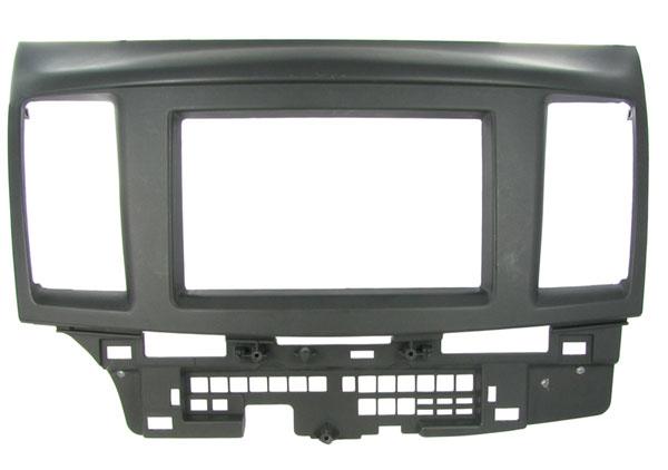 2-DIN monteringskit til Mitsubishi Lancer 2008-, sort.