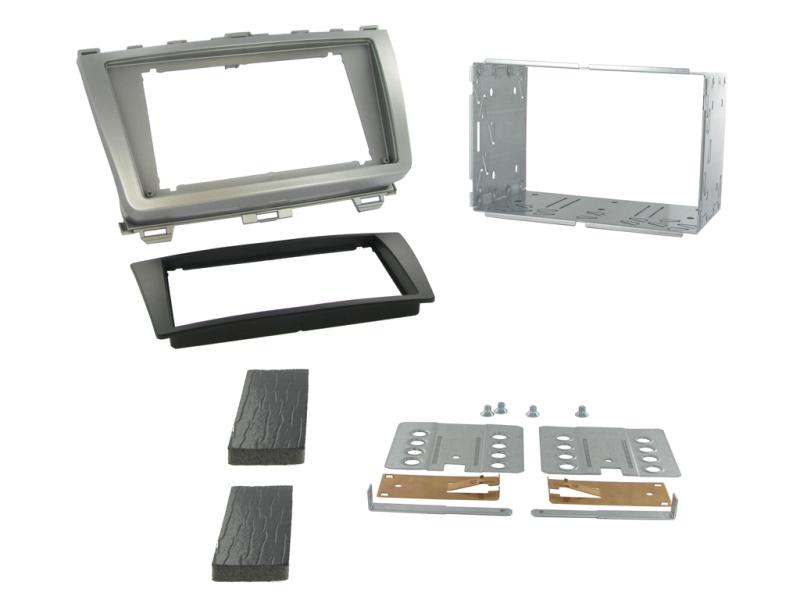 2-DIN monteringskit til Mazda 6 GH serie 2008-2012, sølv/sor