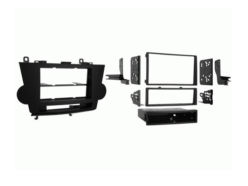 2-DIN monteringskit til Toyota Highlander 2008-2013, sort.
