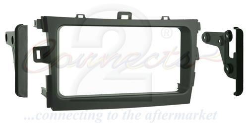 2-DIN monteringskit til Toyota Corolla 2009-2013, sort.