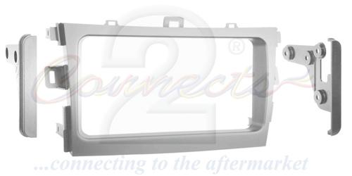 2-DIN monteringskit til Toyota Corolla 2009-2013, sølv