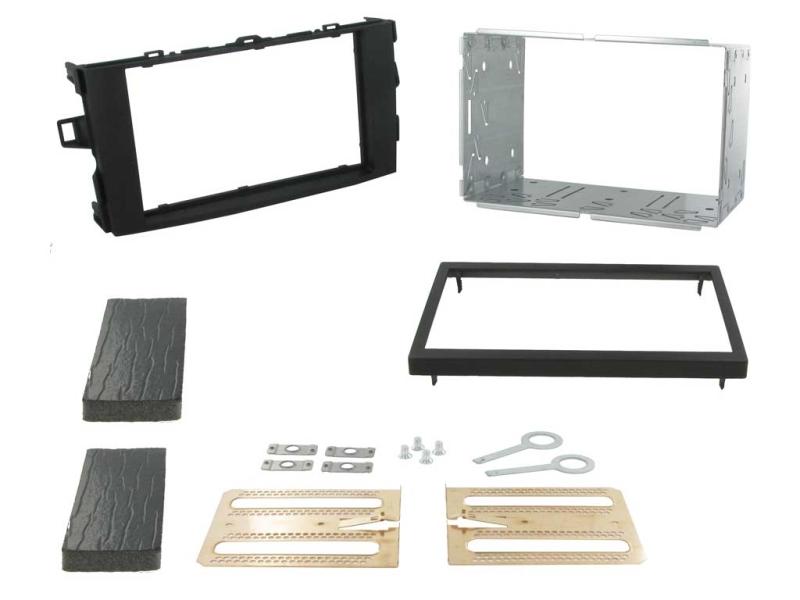 2-DIN monteringskit til Toyota Auris E150 2007-2012, mørkegr