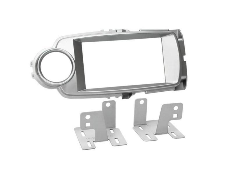 2-DIN monteringssæt til Toyota Yaris XP13 2011-7/2014 i sølv