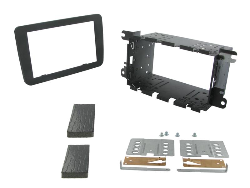 2-DIN kit til diverse VW modeller, gråsort