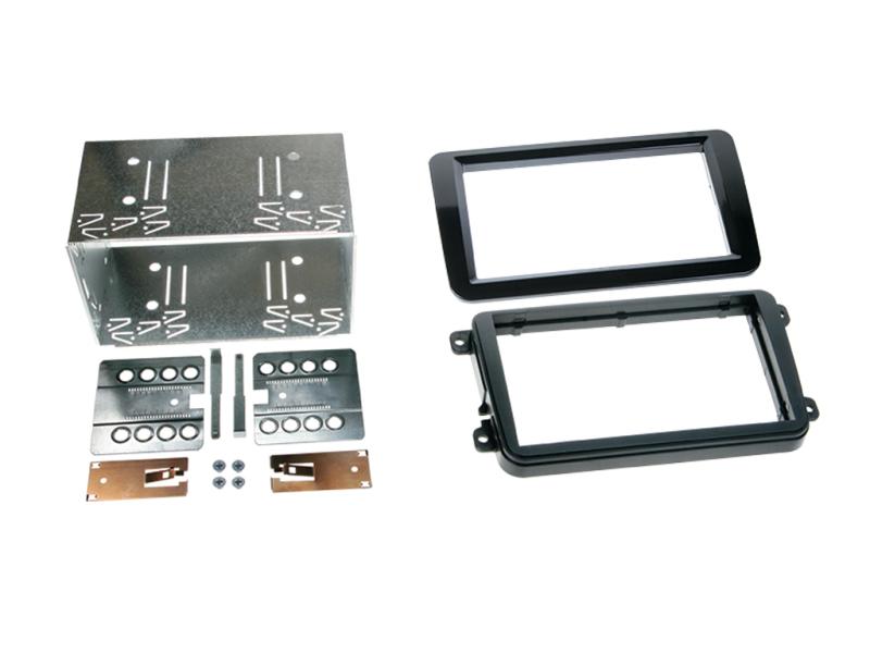 2-DIN kit til diverse VW modeller, Piano/højglans sort