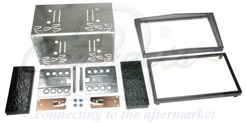 2-DIN monteringskit til diverse Opel modeller,Chrome silver.