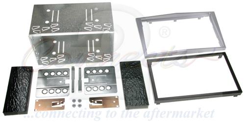 2-DIN monteringskit til diverse Opel modeller,sølv.