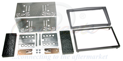 2-DIN monteringskit til diverse Opel modeller, antracit meta