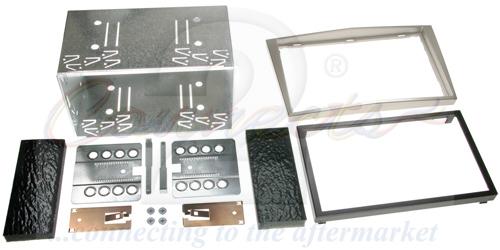 2-DIN monteringskit til diverse Opel modeller, satin stone.