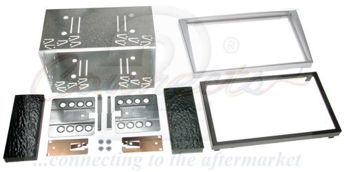 2-DIN monteringskit til diverse Opel modeller, sølv.