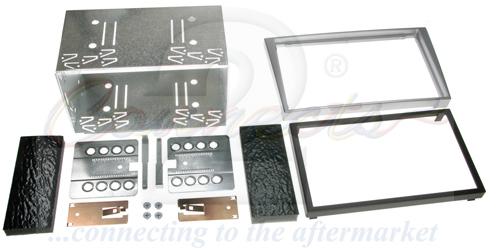 2-DIN monteringskit til diverse Opel modeller, Chrome metall