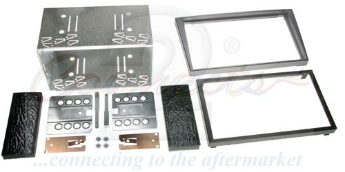 2-DIN monteringskit til diverse Opel modeller, antracit.