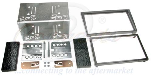 2-DIN monteringskit til diverse Opel modeller, Charcoal.